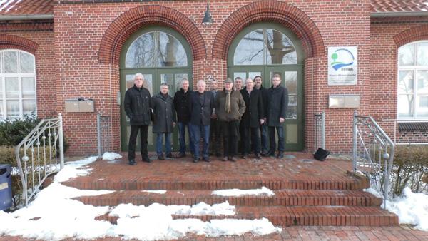 Mitglieder des Dachverbandes Hase mit Verbandsvorsteher Josef Kolbeck (4.v.l.)