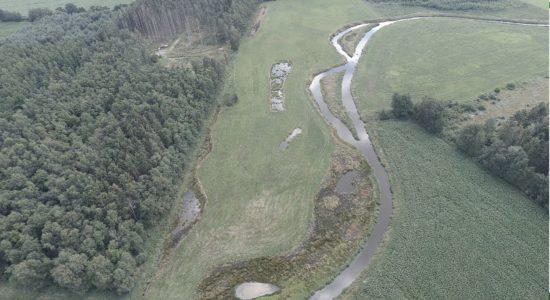 Renaturierungsmaßnahme an der Mittelradde. Foto: Landkreis Emsland